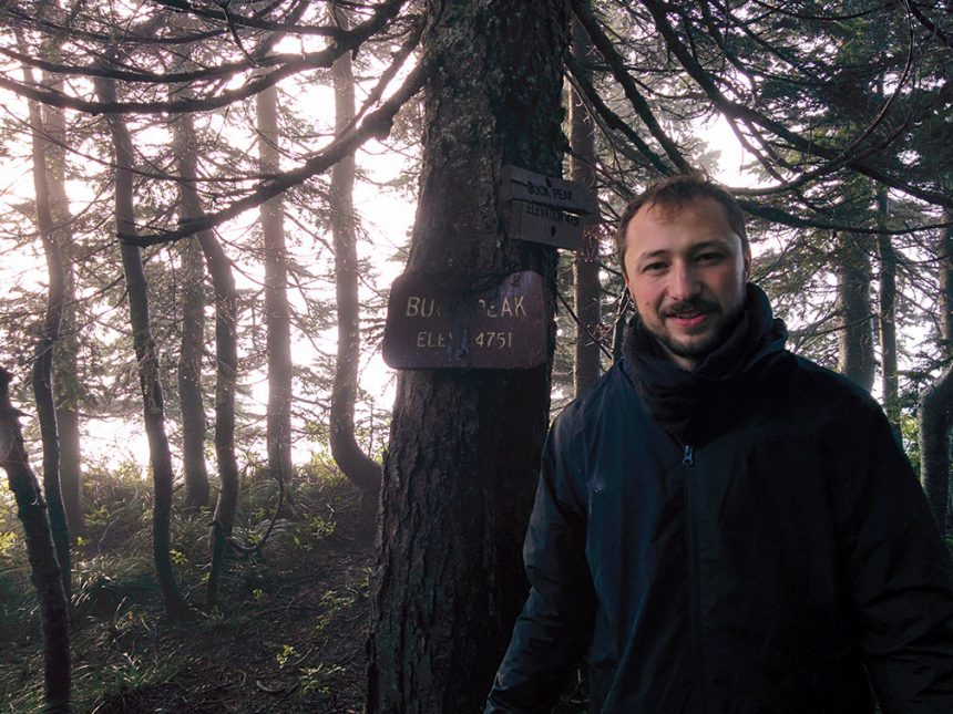 Image: Lev from RaRe Technologies and Community Manager for Gensim in Portland, Oregon hiking the trails.