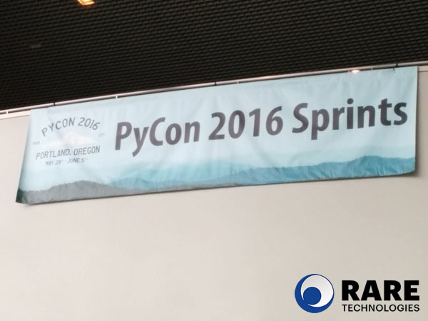 Image: Let the sprints begin! PyCon 2016 Gensim coding sprint.